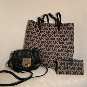 Michael Kors 3 Piece Tote, Wallet and Crossbody